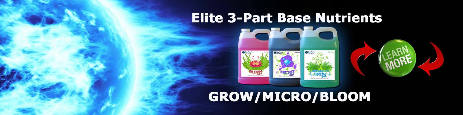 ELITE 3-Part hydroponic nutrients